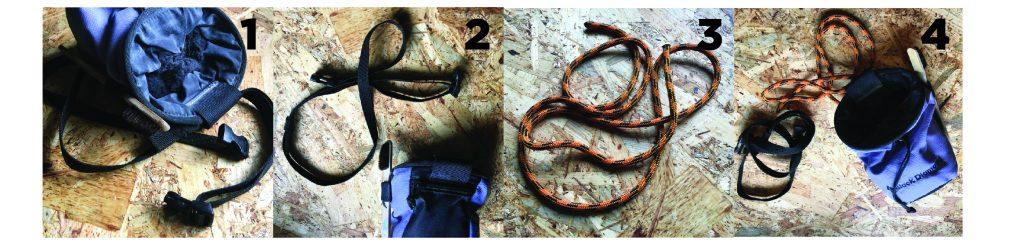 Cambio de la cinta de una magnesera por un versátil cordino del 7.