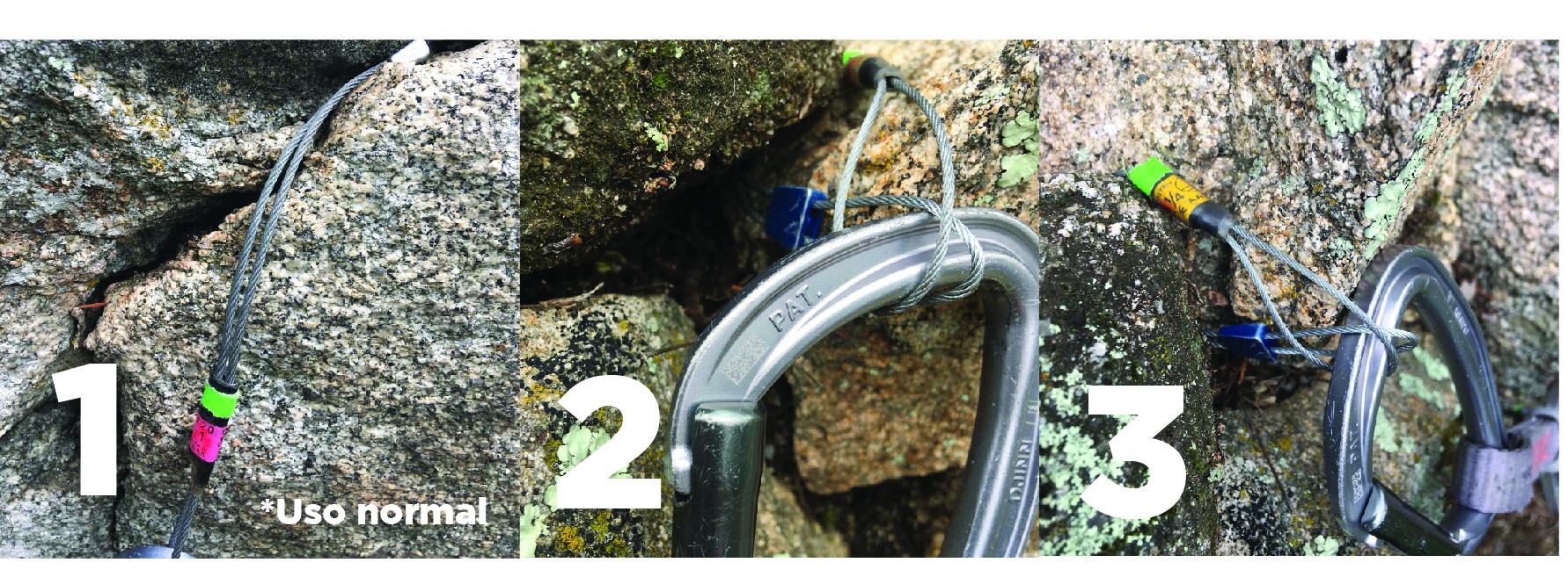 Cómo lazar un puente de roca con un empotrador de cable (fotos 2 y 3).