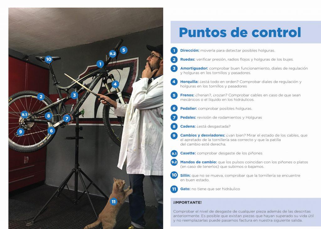 Puntos de control revisión bicicleta.