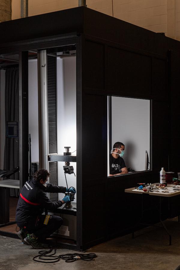 Ensayos en ASAC Vertical Lab.
