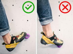 Baja el talón para aprovechar mayor superficie de contacto.