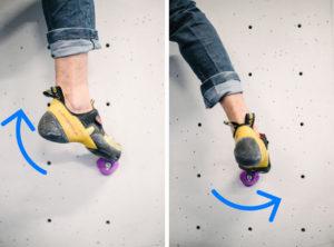 Rota la punta para adaptar y sentir el agarre y mover el centro de gravedad a nuestro favor.