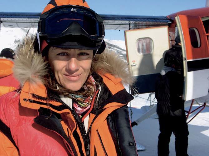 Chus Lago en 2009, durante su expedición en solitario al Polo Sur. © Col. Chus Lago