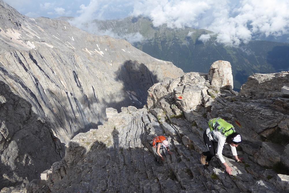 Último tramo antes de alcanzar la cima del Olimpo. ©Felipe Gómez