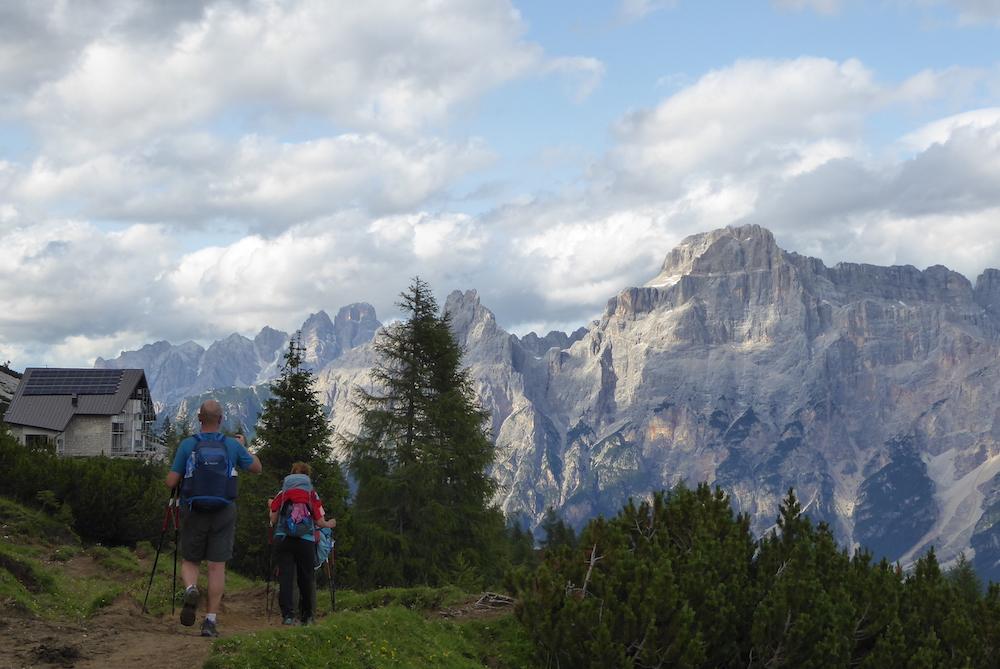 Llegada al Refugio Venecia, en Dolomitas. ©Felipe Gómez