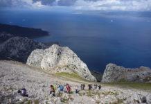 Ascensión al Jebel Mussa; al fondo, el Estrecho de Gibraltar. © Felipe Gómez