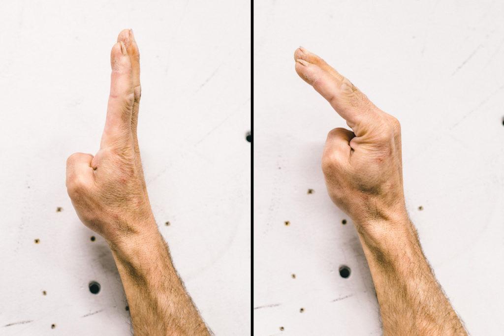 Es aconsejable calentar los músculos lumbricales de la mano antes de la escalada de romos.